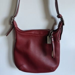 NEW authentic Coach red leather purse